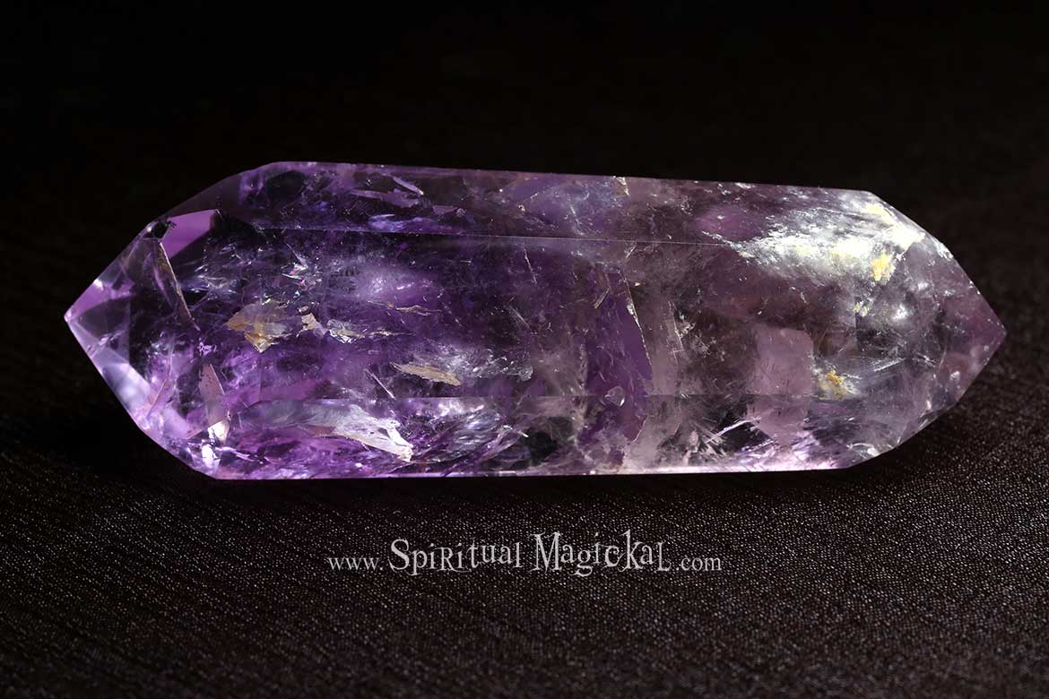 Amethyst Crystal, Double Terminated, Polished, Points, Brazil, Backside