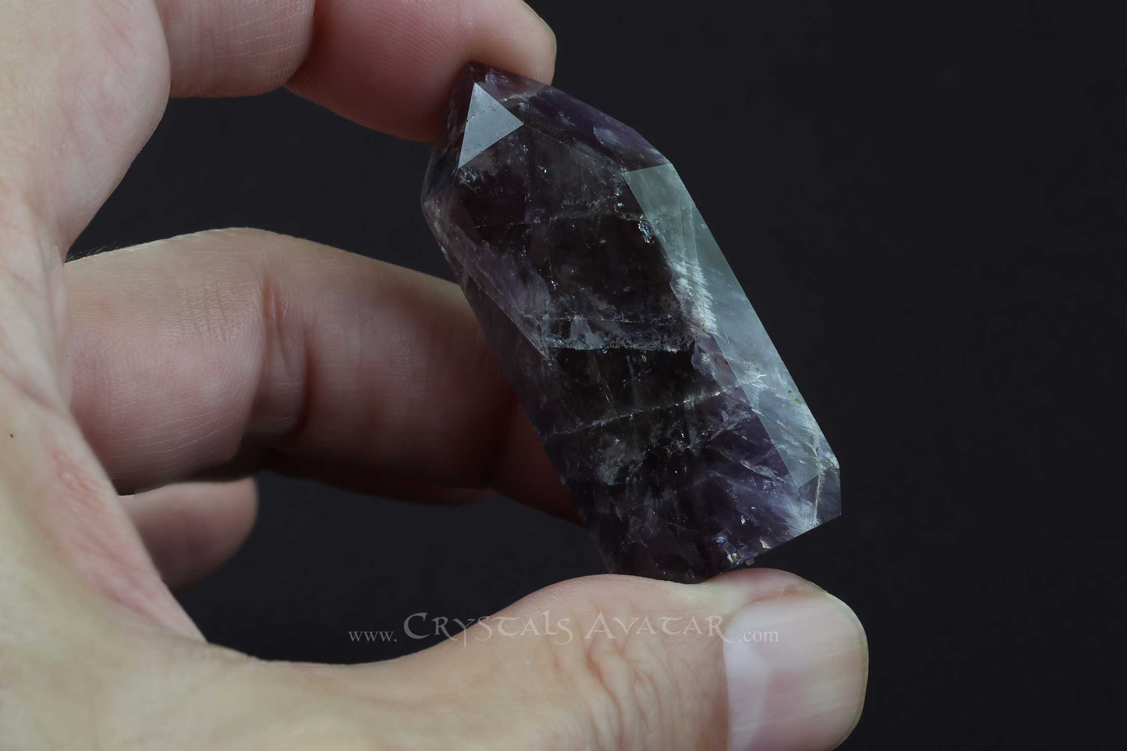 Auralite-23 Crystal, Self Standing, Single Point, Energy, Side