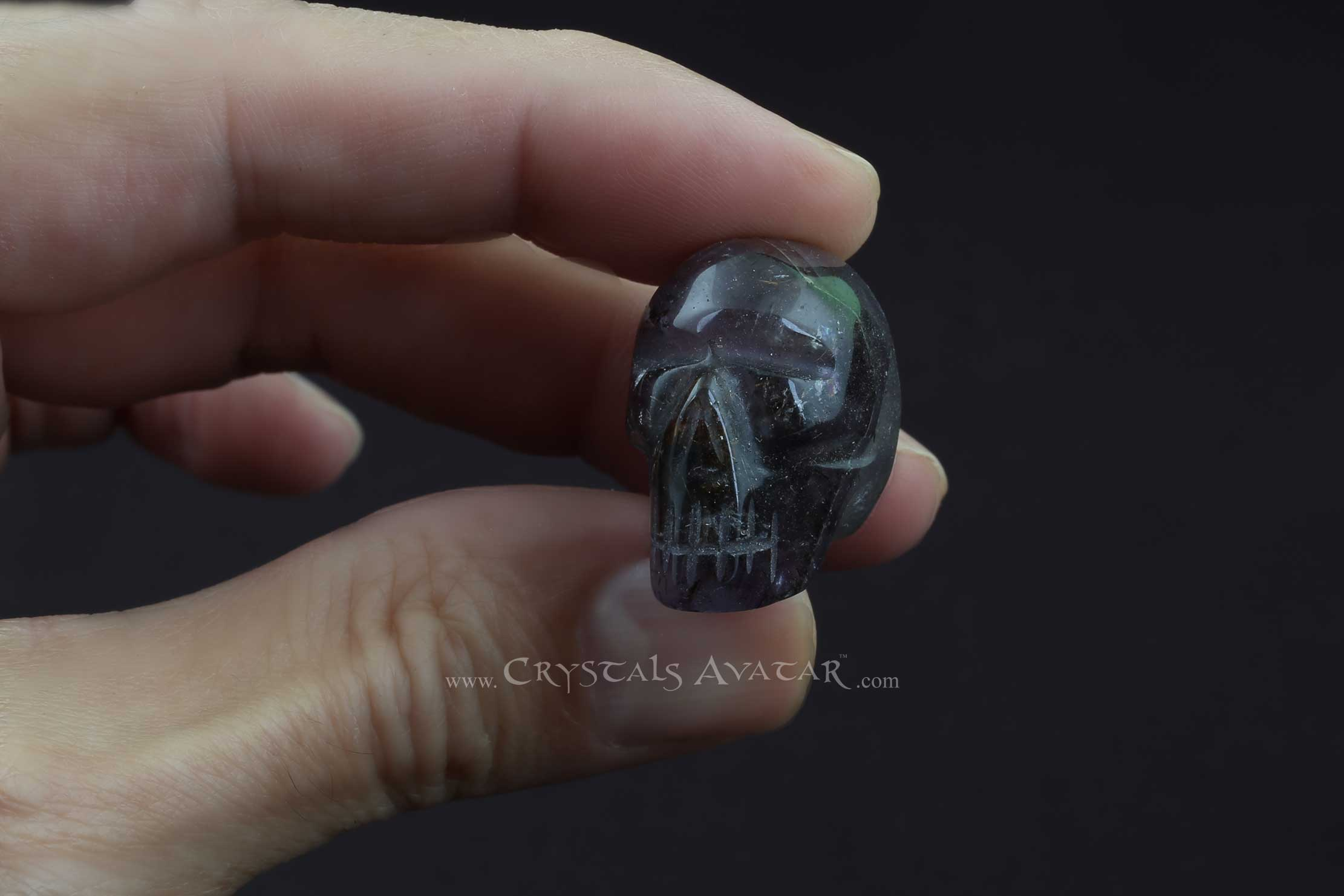 Auralite-23 Crystal Skull, Mini, Polished, Hand Carved