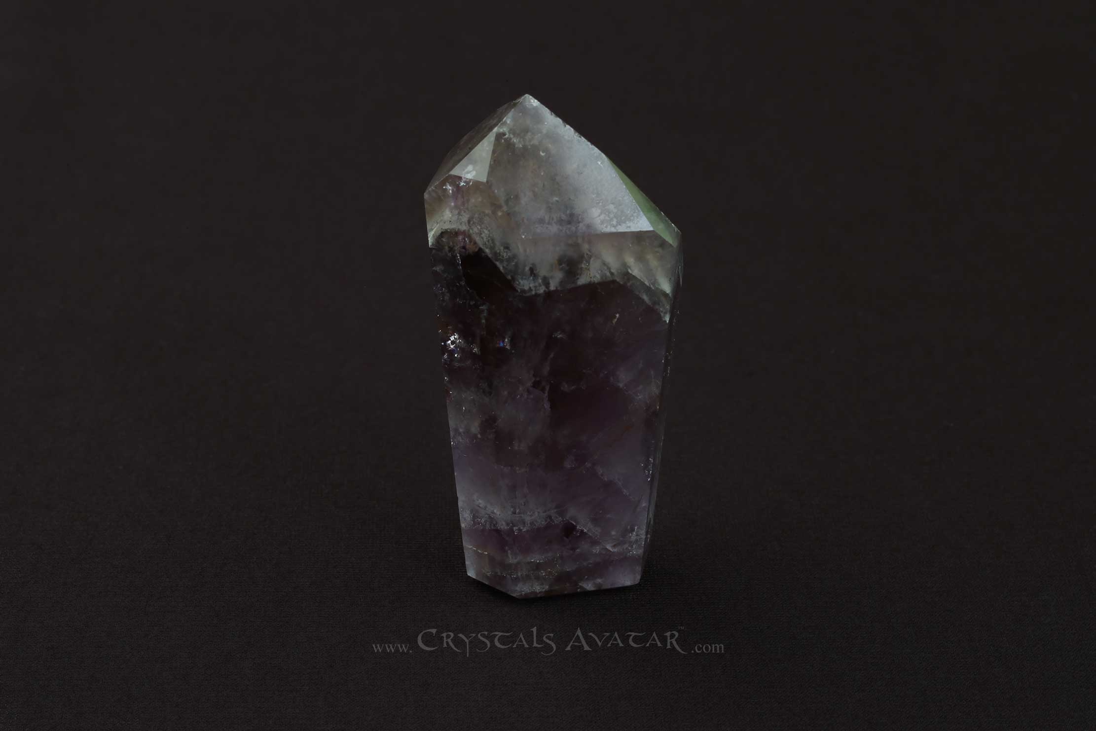 Auralite-23 Crystal Tower, Single Point, Stone, Standing, Gem