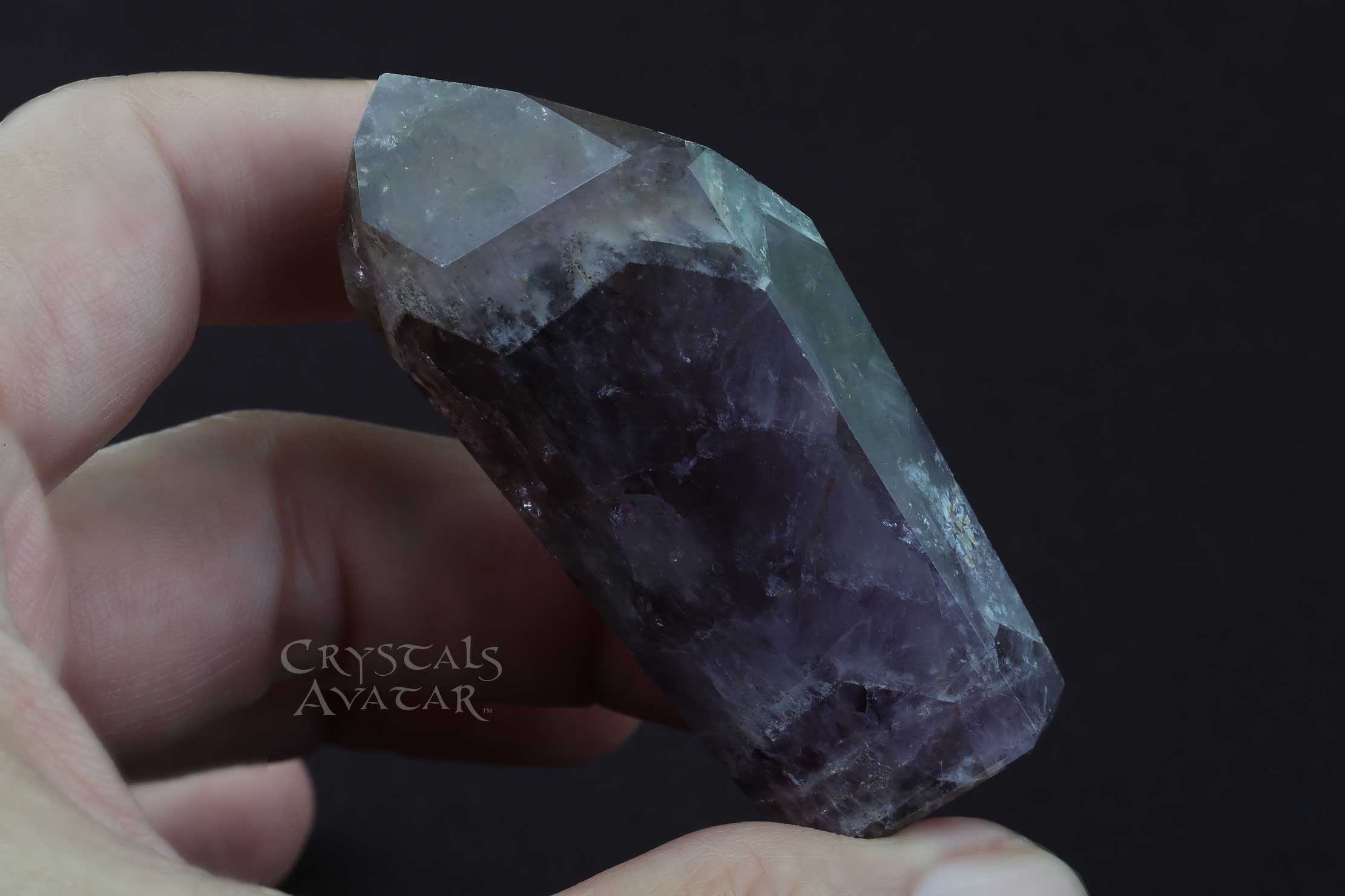 Auralite-23 Crystal Tower, Single Point, Stone, Standing, Polished
