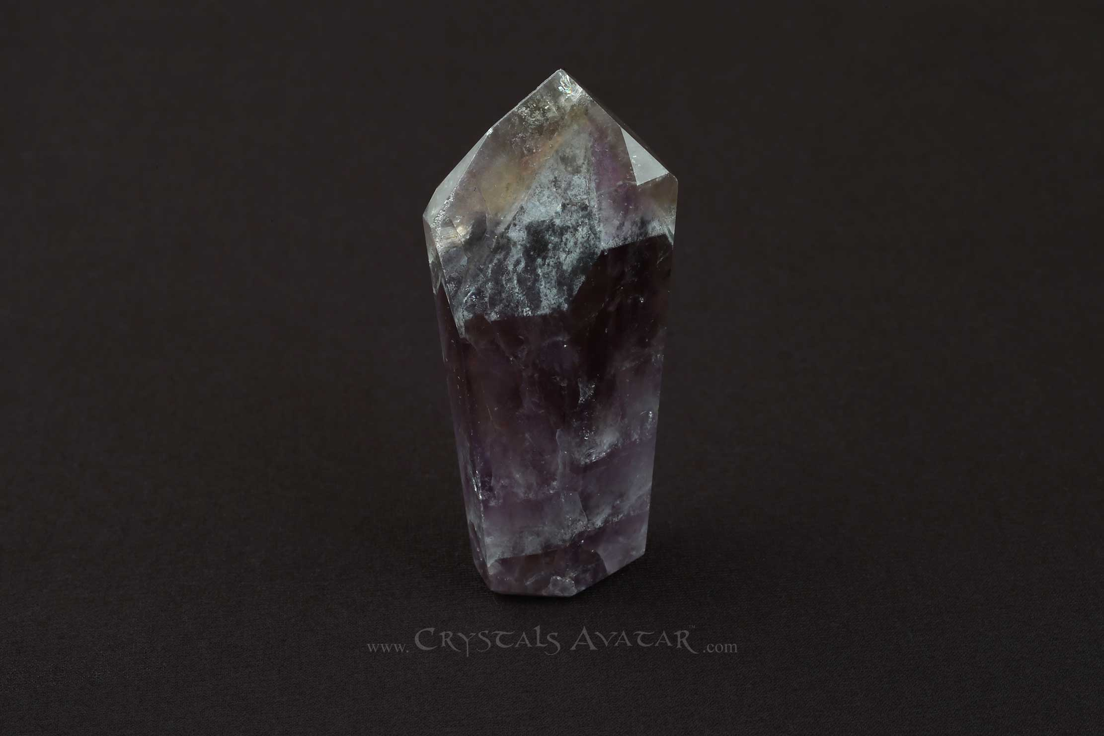 Auralite-23 Crystal Tower, Single Point, Stone, Standing