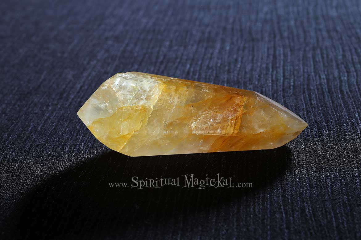 Citrine Crystal, Double Terminated Points, Polished, Brazil