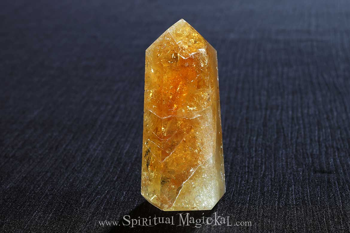 Citrine Crystal Point, Polished, Tower