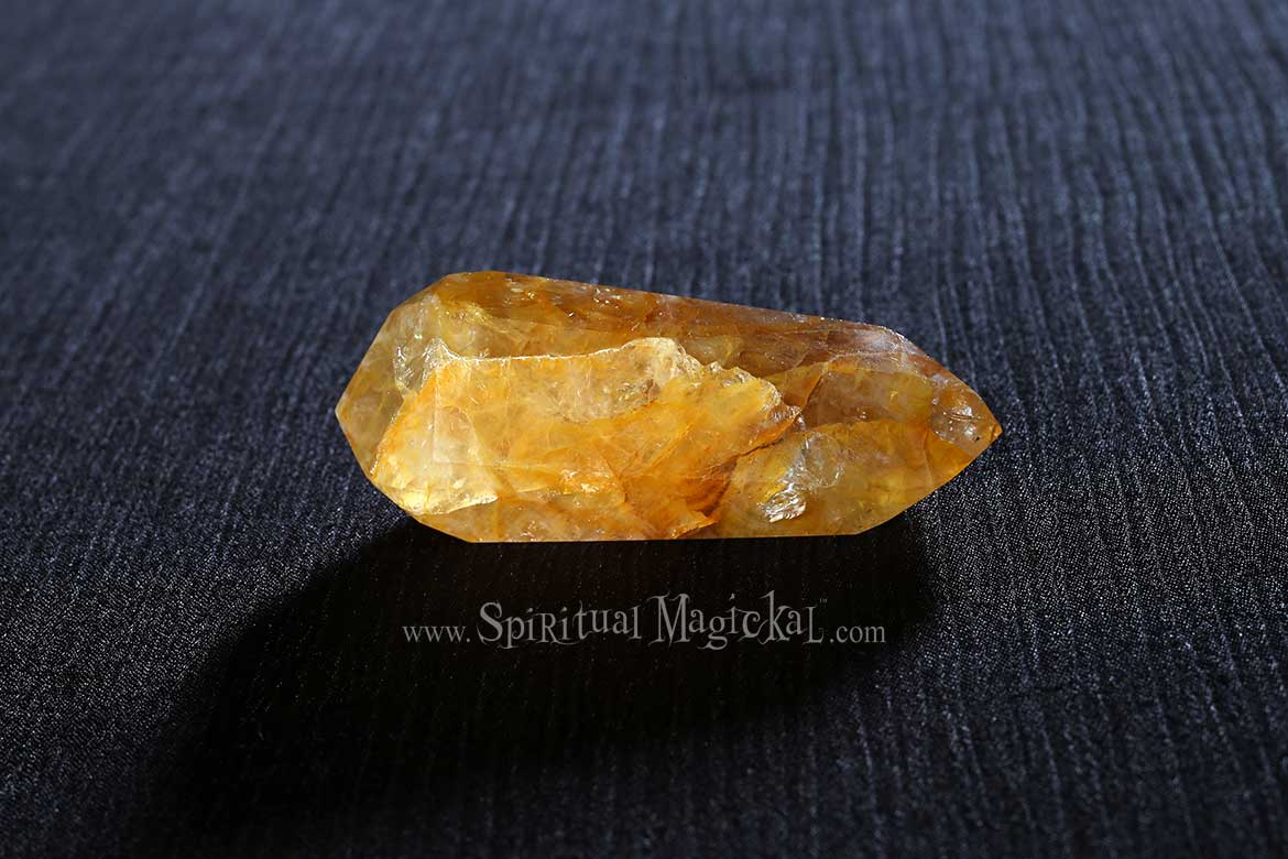 Citrine Crystal Points, Double Terminated, Polished, Brazil