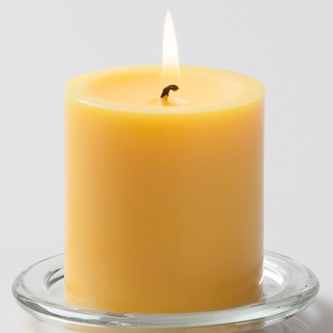 Yellow Pillar Candle, 3 inches